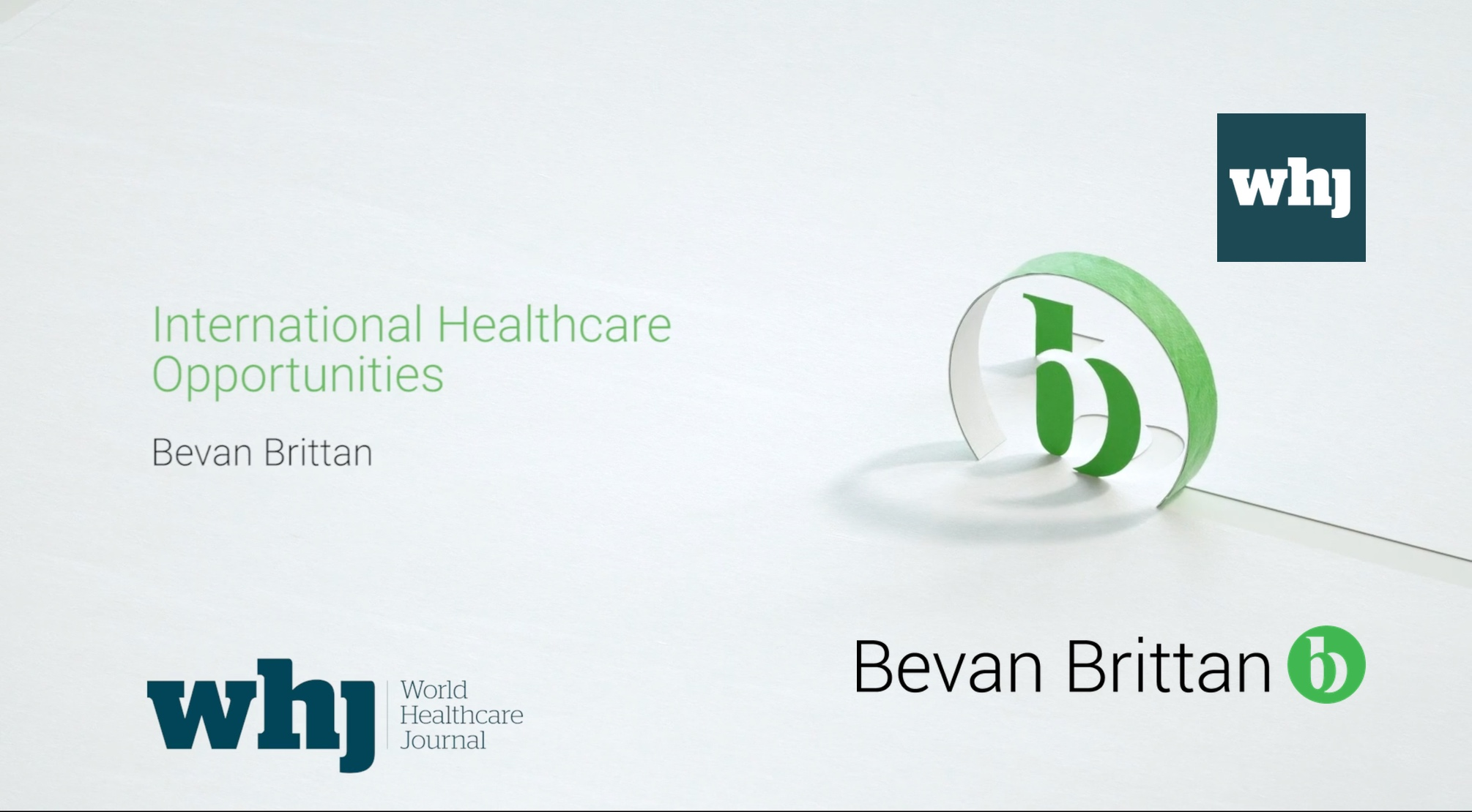 VIDEO: International Healthcare Opportunities with WHJ and Bevan Brittan